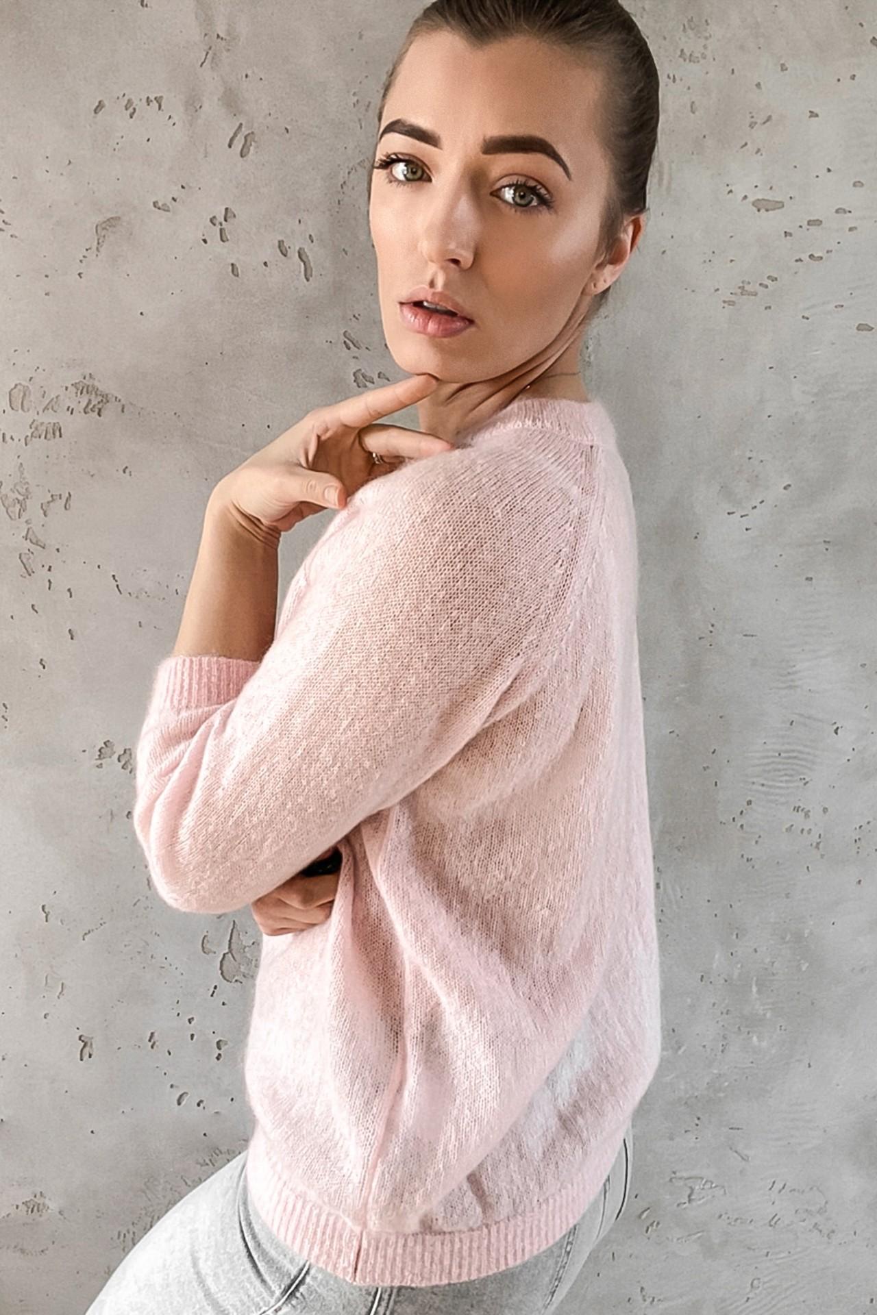 Mohair 3/4 Sleeves Pink