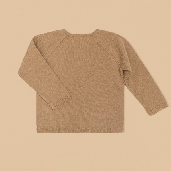 Kids Wool Sweater Camel