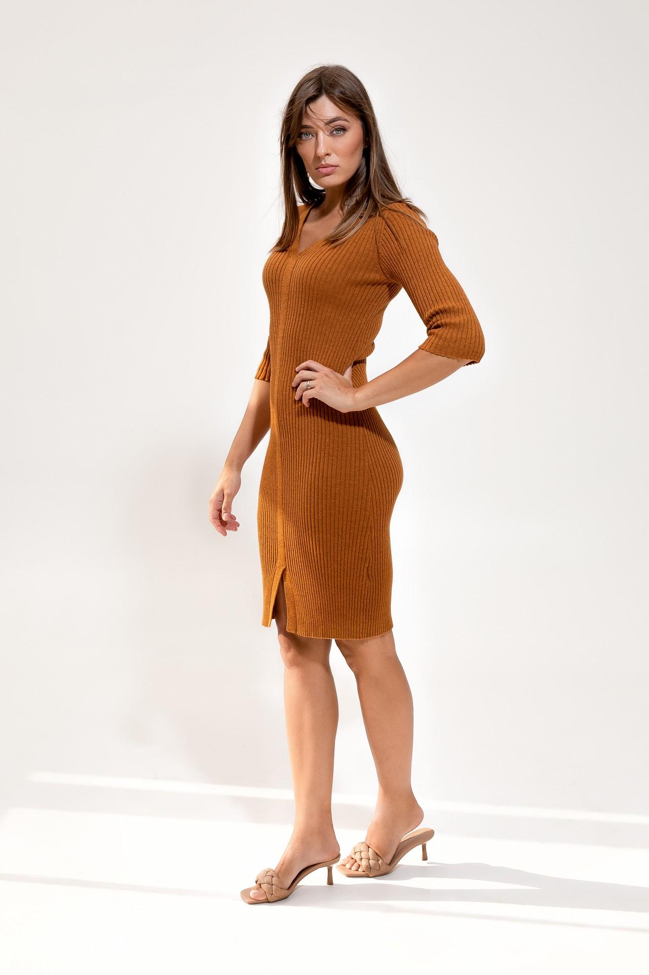 Merino Dress Ochre