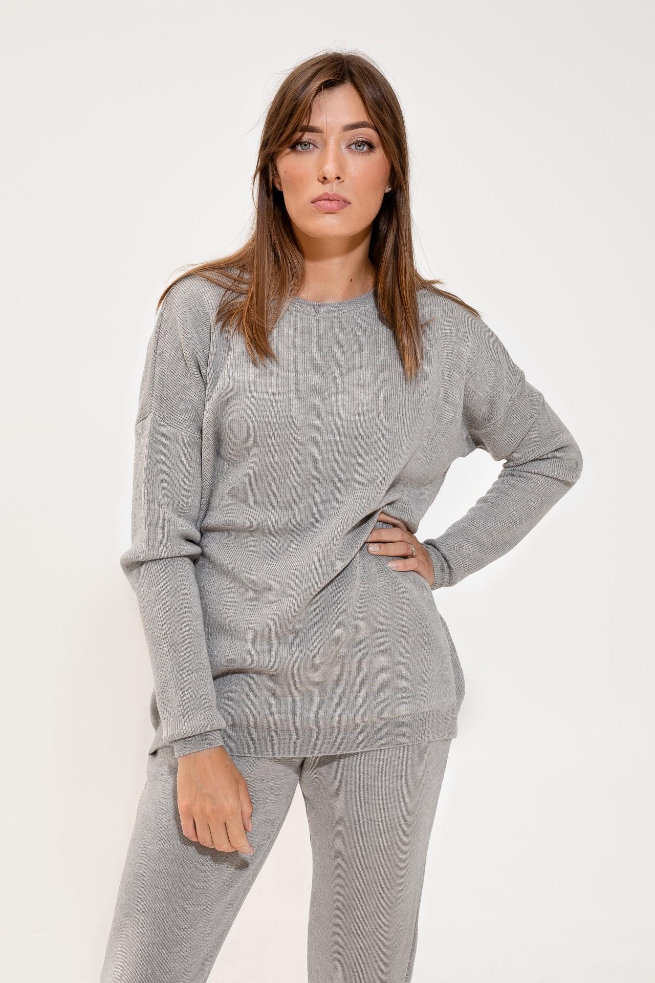 Merino Suit Feather Grey