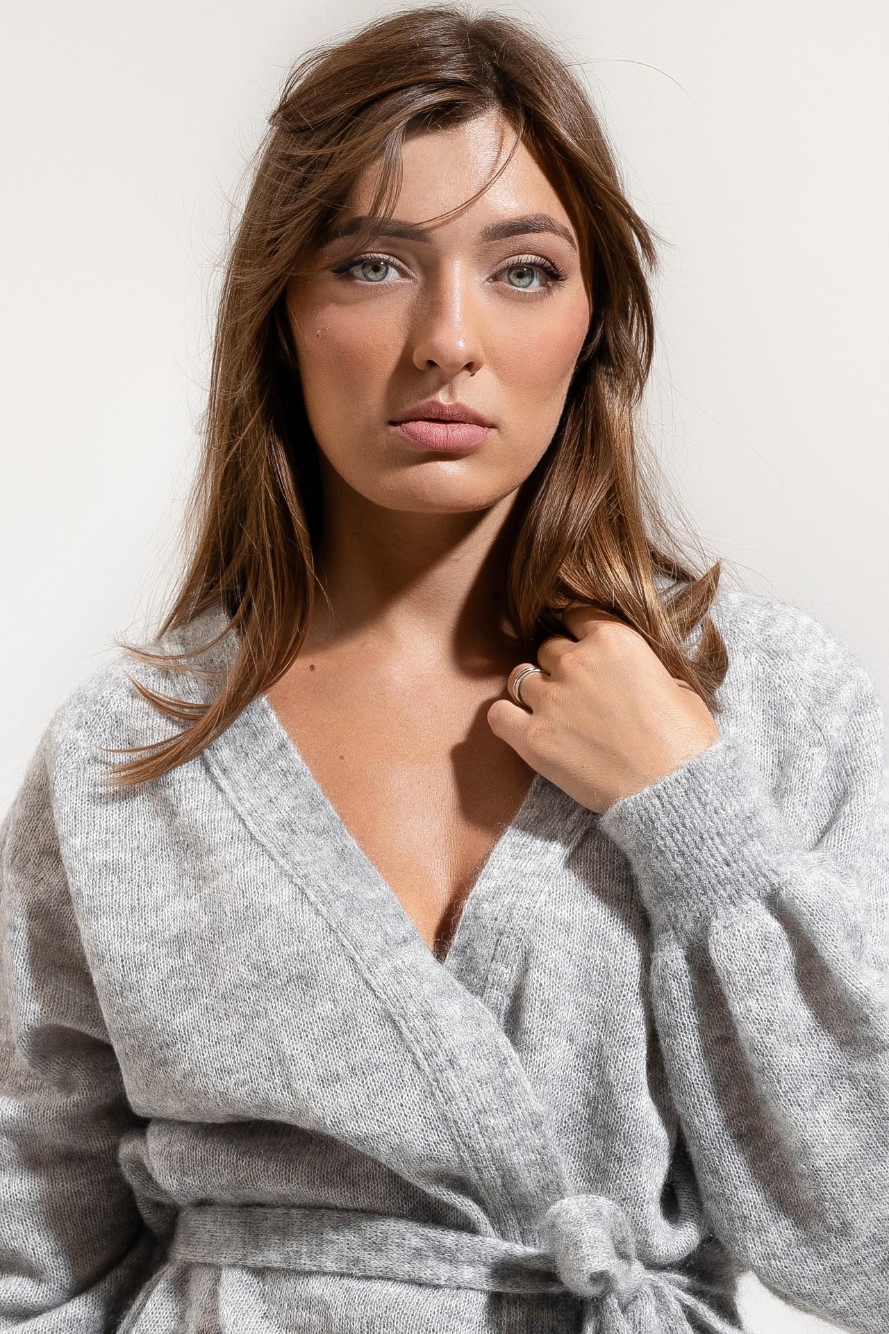 Mohair Cardigan Grey